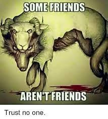 No Trust Meme - some friends arent friends trust no one friends meme on sizzle