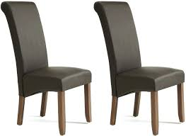 High Back Brown Leather Dining Chairs Faux Leather Dining Chairs White Room Canada Gunfodder Com