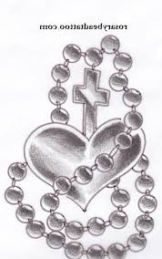 rosary drawing rosary bead cross with