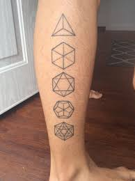 first tattoo platonic solids by chris cook studio xiii orlando