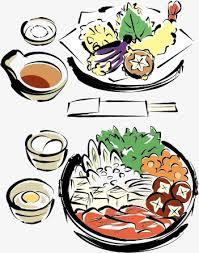 clipart cuisine gratuit le vecteur de la cuisine japonaise marmite peint à la le
