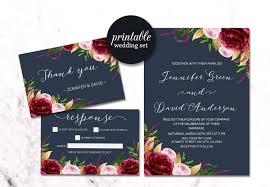 wedding invitations burgundy navy floral wedding invitation burgundy wedding invitation