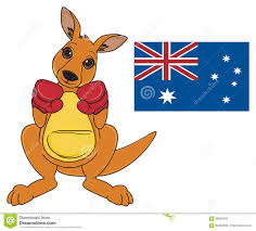 kangaroo and australian symbols stock illustration image 88435805