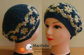 redheart pattern lw2741 how to crochet beret hat with flowers free pattern tutorial youtube