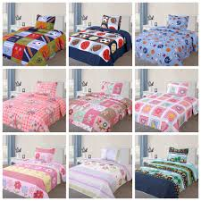 2 pcs kids bedspread quilts set for boys girls bed printed bedding