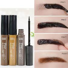 henna eye makeup waterproof eyebrow makeup eye tint gel henna tattoo peel semi
