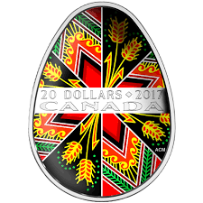 20 traditional pysanka pure silver coin