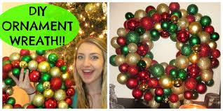 diy easy cheap ornament wreath 12 or less