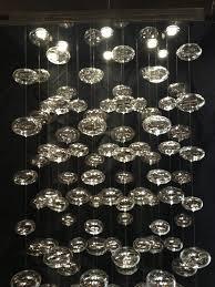 Cascading Glass Bubble Chandelier Chandeliers Bubble Chandelier Rectangle Modern Lighting