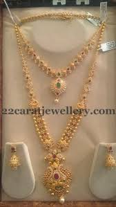 gold haram sets jewellery designs trendy cz sets by sri mahalaxmi jewellers s t