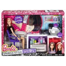 barbie sparkle style salon doll and playset walmart com
