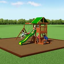 oakmont wooden swing set playsets backyard discovery
