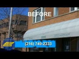 Outdoor Canvas Awnings Canvas Awnings Cleveland Oh Before And After Video Of Canvas