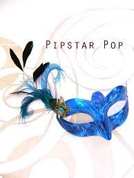 blue masquerade masks sapphire blue peacock feather royalty woman venetian masquerade
