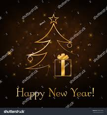 Happy New Year Decoration Vector by Happy New Year Celebration Background Gold Stock Vector 500678380