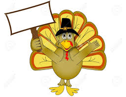 thanksgiving turkey holding up sign stock photo picture and