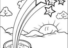 rainbow pot of gold coloring pages rainbow and pot of gold coloring pages coloring4free com