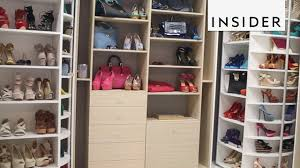 easily organize shoes and accessories with this revolving closet