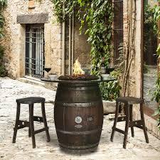 Wine Barrel Fire Pit Table by Grand Wine Barrel Fire Pit Table Granite