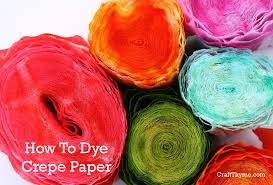 paper crepe streamers how to dye crepe paper craft thyme