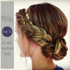 braid headband hair and make up by steph how to braided headband updo