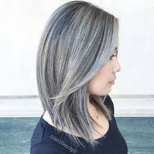 highlights for gray hair photos gray hair with black highlights hair styles inspiration