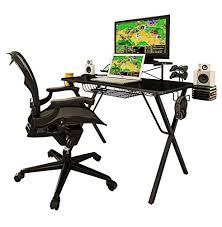 atlantic furniture gaming desk black carbon fiber atlantic 33950212 gaming desk pro 691161059107 ebay