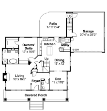 bungalow style house plan 3 beds 2 50 baths 2049 sq ft plan 124 485