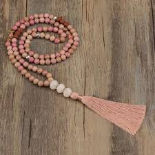 pink coloured beads necklace images Top summer 2018 mala bead color trends mala prayer jpeg