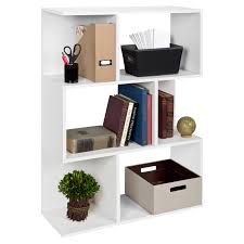 manhattan comfort petrolina z shelf bookcase hayneedle