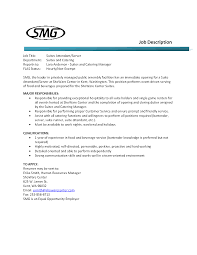 Food Service Job Description Resume by Resume For Food Server Free Resume Example And Writing Download