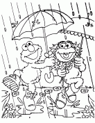Elmo And Zoe Rainy Day Coloring Page H M Coloring Pages Rainy Day Coloring Pages