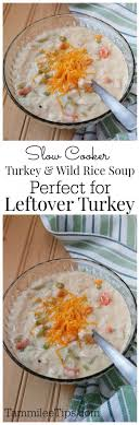 cooker crock pot turkey and rice soup recipe tammilee tips