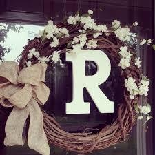 monogram wreath monogrammed wreaths for front door attractive wreath personalized