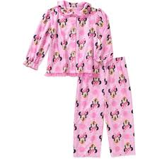 Minnie Mouse Clothes For Toddlers Minnie Mouse Toddler Button Down Pajama Set Walmart Com