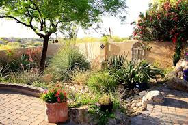 phoenix desert landscape design mediterranean with patio lighting