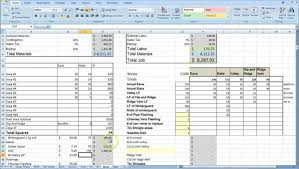 Excel Spreadsheet Samples Construction Estimating Spreadsheet Template Xls And Free