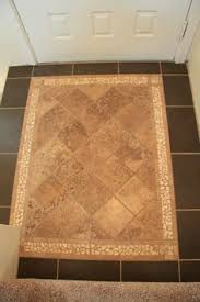 Tile In Kitchen Tile Inlayed Detail In Wood Floor Match The Shower To The