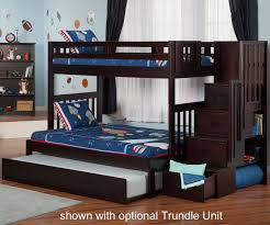 cascade espresso twin over full staircase bunk bed stairway bunk