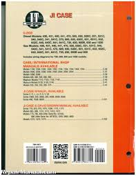 ji case david brown tractor repair manual 430 440 470 500 530 540