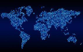 Free World Map Blue World Map Timekeeperwatches