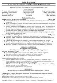 Insurance Resume Format Security Resume Template Zuffli