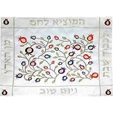 shabbat challah cover yair emanuel bright challah cover with wheat and