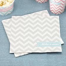 chevron paper napkins by notonthehighstreet