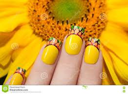 short yellow french manicure stock photo image 80018914