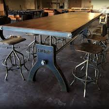 industrial dining room table industrial furniture table gorgeous design ideas industrial