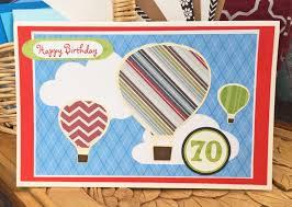 balloons for him personalized hot air balloon birthday card custom handmade