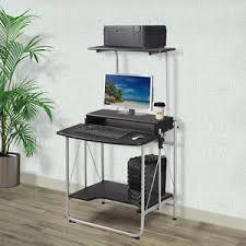 Laptop Desk With Printer Shelf 3 Tier Computer Desk With Printer Shelf Stand Home Office Study Pc