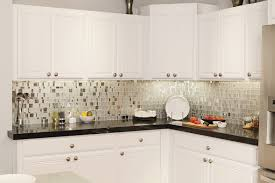 Kitchen Backsplash With White Cabinets by Elegant Glass Kitchen Backsplash White Cabinets