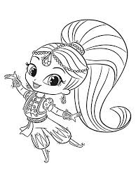 Shimmer Shine Coloring Pages Free Printable Shimmer Shine